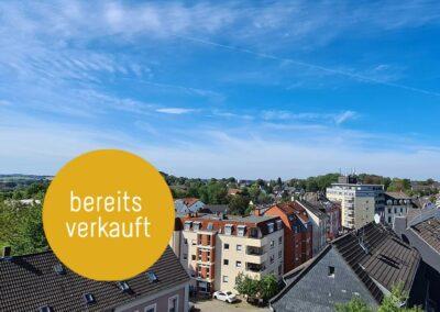 Tolle 3 Zimmer-Etagenwohnung mit großer Dachterrasse und Fernblickgarantie im Zentrum von Heiligenhaus