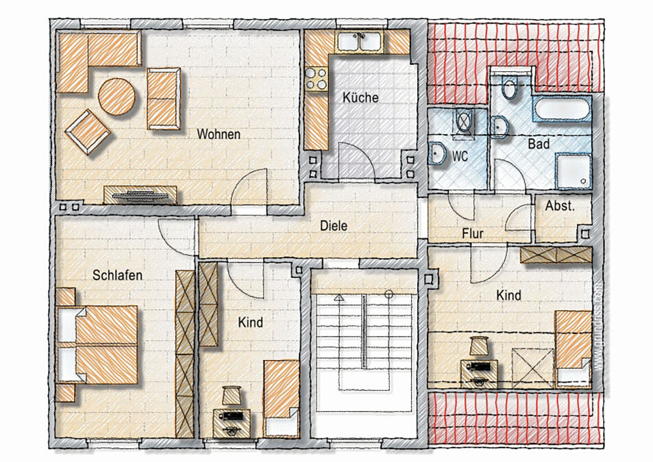 4-Zimmer-Etagenwohnung in Düsseldorf-Mörsenbroich